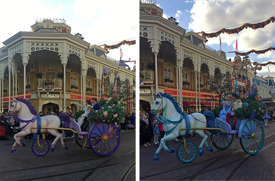 ... gefolgt von Belle und dem Biest sowie Cinderella mit Prince Charming.