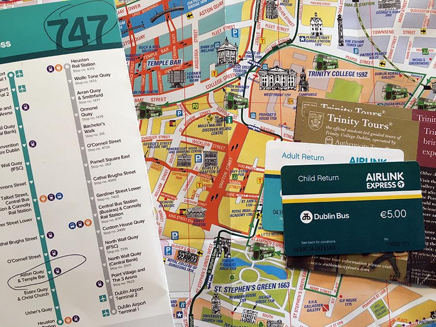 Den tollen Dublin-Stadtplan gibt es umsonst bei der Touristeninformation.