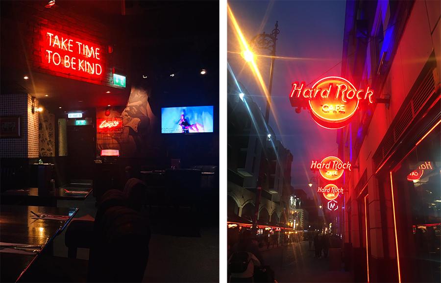 Auch (oder vielleicht eher gerade) in Dublin gibt es natürlich ein Hard Rock Café.