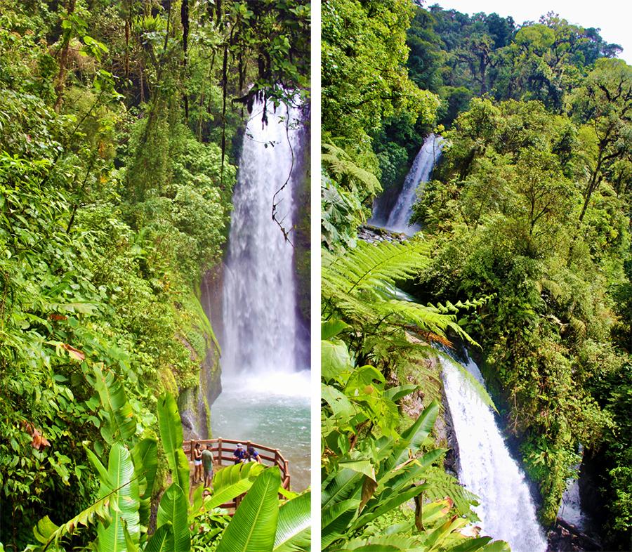 Und was für Ausflüge man in Costa Rica machen kann! Hier bei gigantischen Wasserfällen mitten im Urwald.