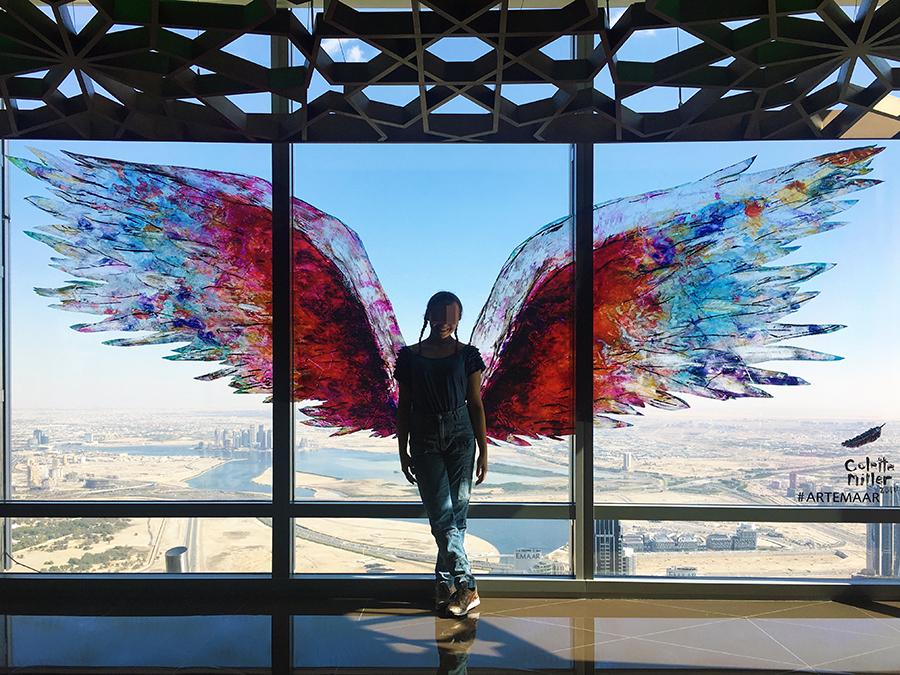 Engel über Dubai.
