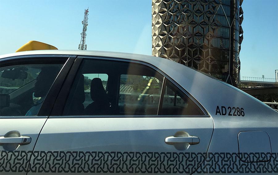 Überall in Abu Dhabi begegnen uns Muster: In und an Gebäuden, an Autos, alles ist voll davon.