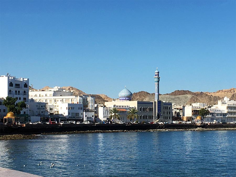 Auf dem Rückweg entlang der Corniche von Maskat...