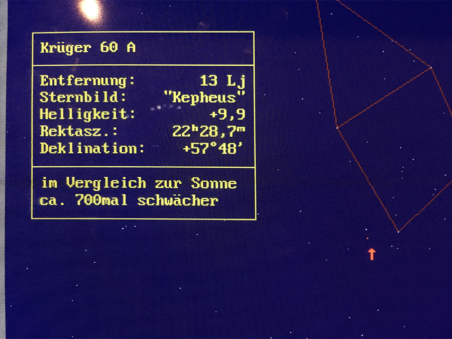 An Computern kann man sich Sternbilder aussuchen.