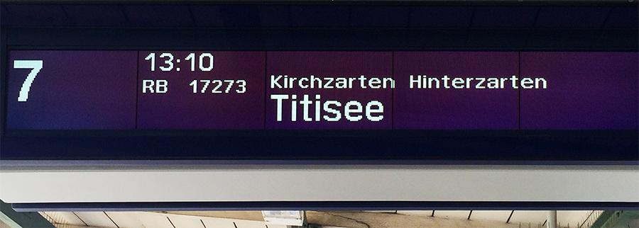 Mit dem Zug geradewegs bis zum Titisee!