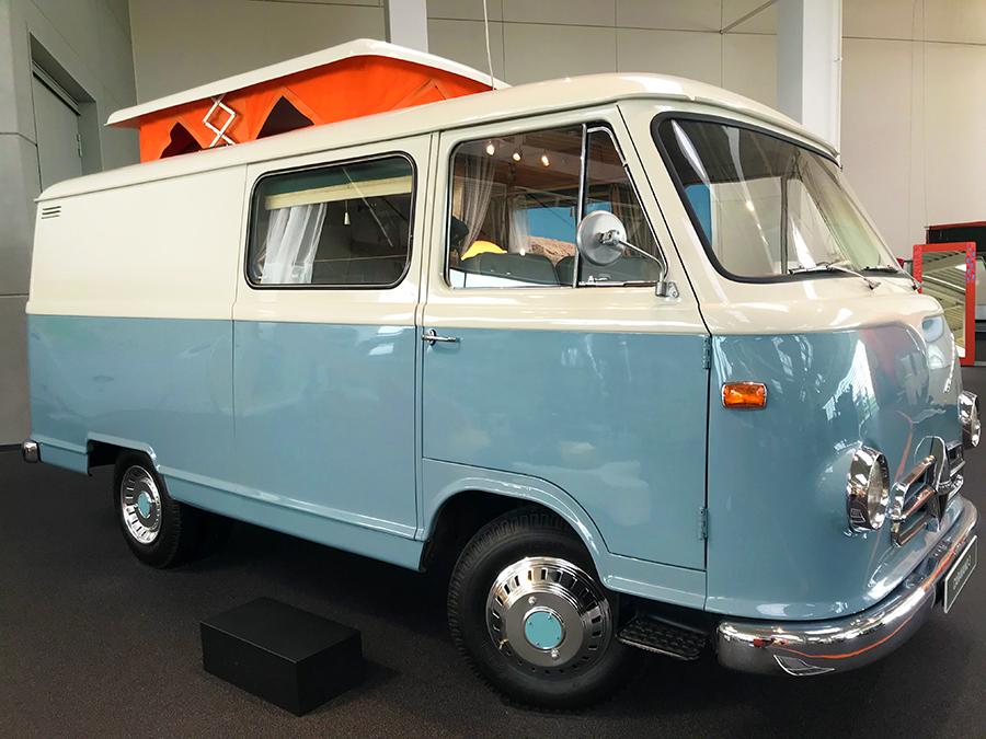Und das ist Erwin Hymers erstes eigenes Reisemobil: Der Caravano 3.