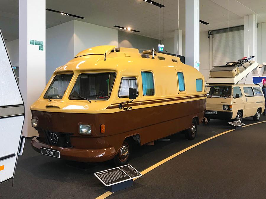 Das Orion-Wohnmobil war ein Amphibien-Fahrzeug, das sogar schwimmen konnte.