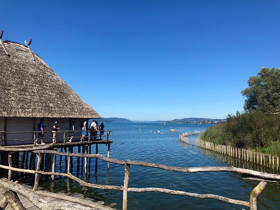 Nebenbei hat man auch eine sehr schöne Aussicht über den Bodensee.