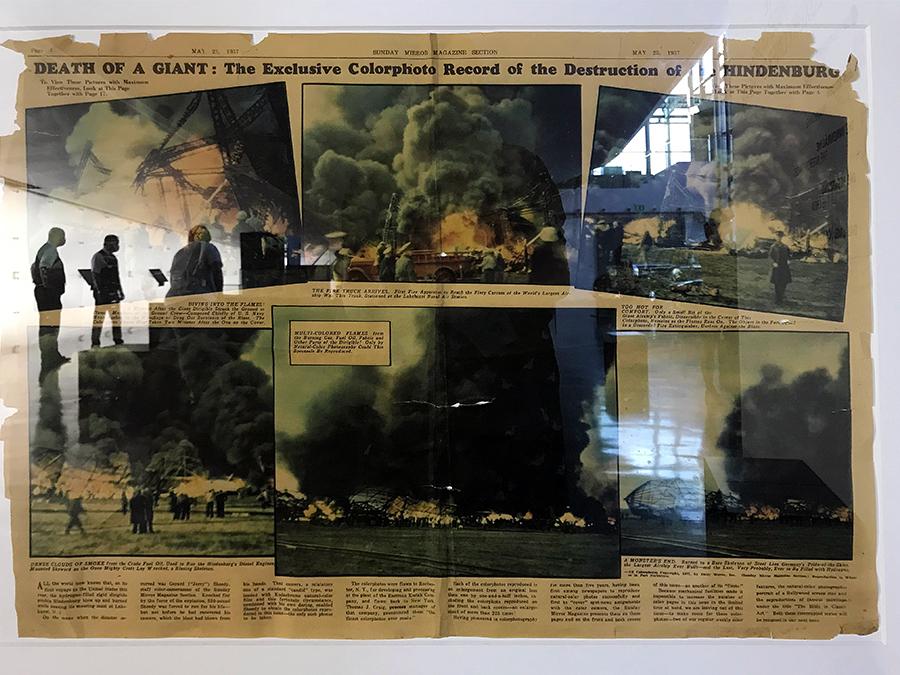 Historischer Artikel zum Absturz der Hindenburg, oder 'Tod eines Giganten', wie die Zeitung titelte.