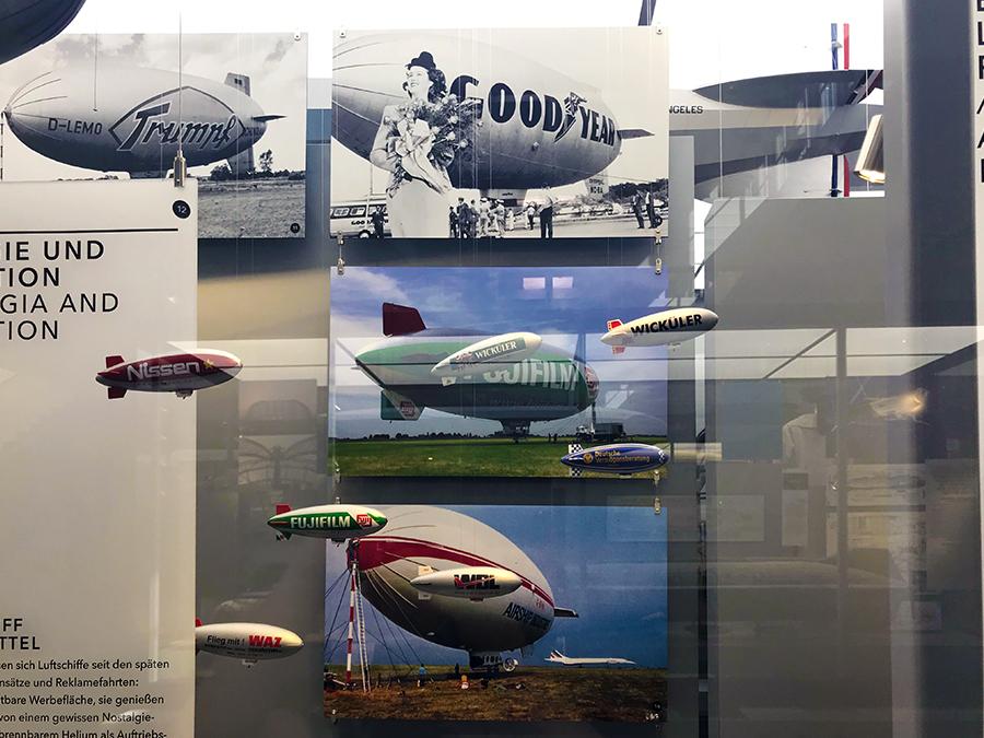 Damals wie heute sind Zeppeline ein exzellentes Medium, um Werbung und Botschaften zu verbreiten. Sie sind einfach ein Hingucker!