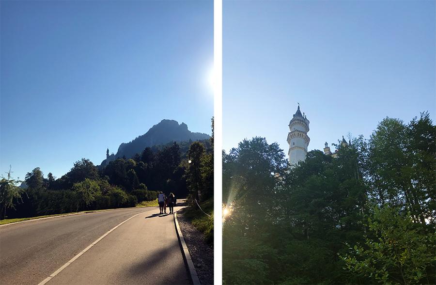 Im Frühtau zu Berge... und den ganzen Weg entlang hat man das Schloss Neuschwanstein immer wieder schon im Blick!