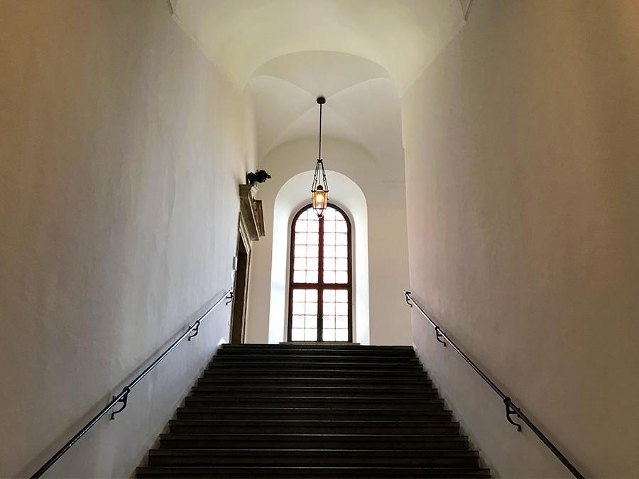 Selbst ein Treppenaufgang kann beeindruckend sein...