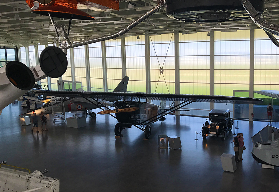 Alle Flugzeuge in dieser Halle wurden von der Firma Dornier produziert.